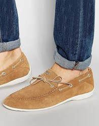 Armani Jeans Suede Loafers Beige