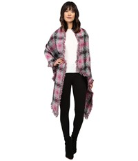 Betsey Johnson Check Me Out Blanket Wrap Pink Women's Clothing