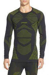 Men's Spyder 'Captain' Compression Base Layer Top Black