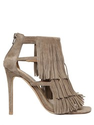 Steve Madden 100Mm Fringed Suede Sandals