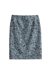 Bouchra Jarrar Cloque Pencil Skirt Blue