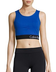 Calvin Klein Athletic Cropped Top Royal Blue