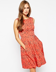 Emily And Fin Emily And Fin Abigail Printed Midi Dress 867Red
