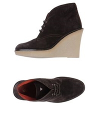 Gianna Meliani Lace Up Shoes Dark Brown