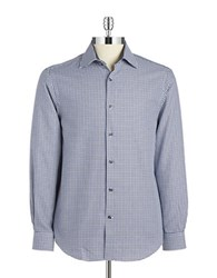 Report Collection Houndstooth Sportshirt Blue