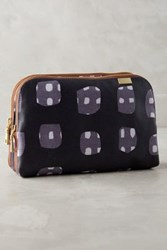 Anthropologie Side By Side Cosmetic Case Navy