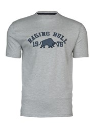 Raging Bull Applique T Shirt Grey Marl