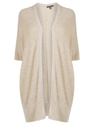 Warehouse Long Cocoon Cardigan Cream