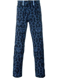 Givenchy Star Print Jeans Blue