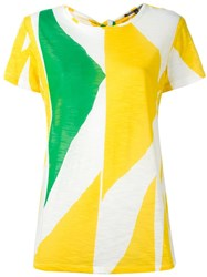 Proenza Schouler Printed Tie Back T Shirt Yellow