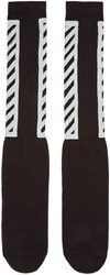 Off White Black Logo Socks