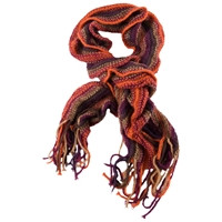 Chesca Knitted Bounce Scarf Multi