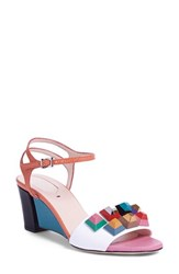 Women's Fendi 'Rainbow' Colorblock Studded Sandal 2 1 2' Heel