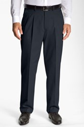 John W. Nordstrom New Supima Pleated Pant Blue