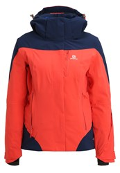Salomon Icerocket Ski Jacket Infrared Wisteria Navy