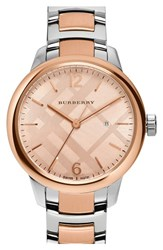Burberry Women's Check Stamped Bracelet Watch 32Mm