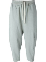 Rick Owens Drkshdw Drawstring Sweatpants Green