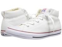 Converse Chuck Taylor All Star Street Core Canvas Mid White Natural White Lace Up Casual Shoes