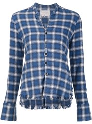 Greg Lauren 'Flannel Studio' Shirt Blue