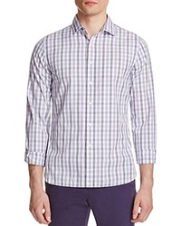 The Men's Store At Bloomingdale's Bicolor Gingham Classic Fit Button Down Shirt Purple