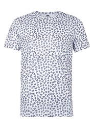 Topman Navy And White Triangle Print T Shirt