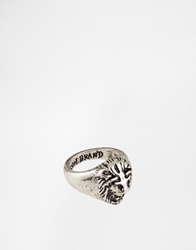 Icon Brand Lion Ring Silver