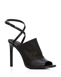 Vince Grace High Heel Open Toe Sandals Black
