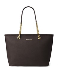 Michael Michael Kors Solid Saffiano Leather Tote Coffee