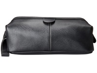 Kenneth Cole Reaction Live Kit Up Single Gusset Top Zip Hinged Travel Kit Black Wallet
