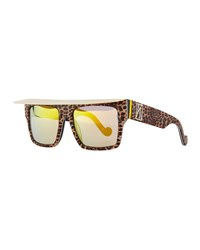 Anna Karin Karlsson Shady Sunglasses With Visor Glitter Leopard