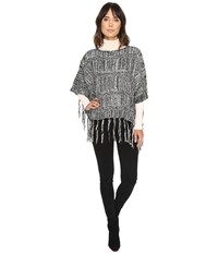 Michael Stars On The Fringe Poncho Black Women's Clothing