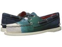 Sperry Jaws A O 2 Eye Boat Shoe Blue Women's Lace Up Casual Shoes