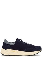 Our Legacy Mono Navy Panelled Suede Trainers
