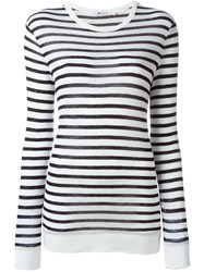T By Alexander Wang Striped T Shirt Blue