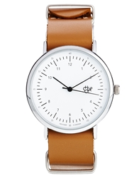 Cheapo Harold Tan Leather Strap Watch Brown