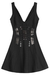 Herve Leger Herve Leger Marissa Bandage Dress With Corset Detail Black