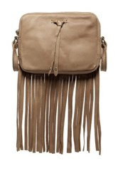 Lucky Brand Kyle Mini Leather Crossbody Beige