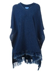 Mih Jeans 'Malaquite' Poncho Blue