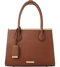 Dune Dependra Top Handle Bag Tan Plain Pu