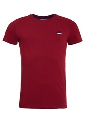 Superdry Vintage Embroidery T Shirt Red