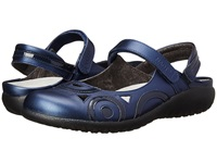 Naot Footwear Rongo Polar Sea Leather Navy Patent Leather Women's Hook And Loop Shoes Blue