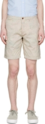 Closed Beige Reversed Floral Bermuda Shorts