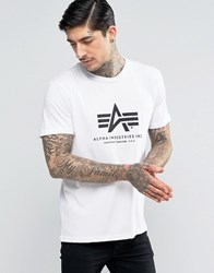 Alpha Industries T Shirt With Logo In Regular Fit White Wh1 White 1