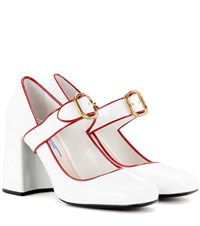 Prada Patent Leather Pumps White