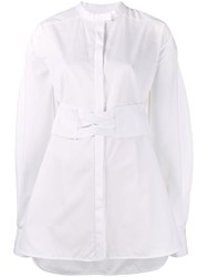 Ellery Corset Belt Shirt White