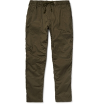 White Mountaineering Slim Cotton And Linen Blend Utility Trousers Green