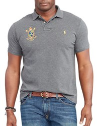 Polo Big And Tall Feather Weight Cotton Shirt Grey