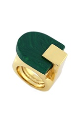 Vince Camuto Cut Slab Ring Gold Green