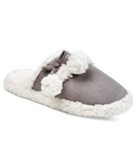 Charter Club Faux Sherpa Scuff Slippers Only At Macy's Grey
