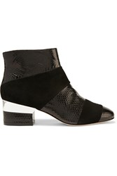 Isa Tapia Hardy Faux Python And Suede Ankle Boots Black